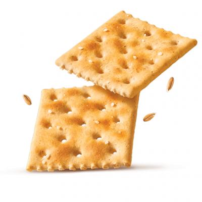 Un pezzettino di cracker non salato, preferibilmente integrale