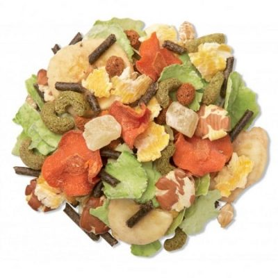 Un cucchiaino di mangime, ricco di frutta secca